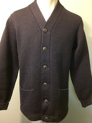 Vtg 30s Wool Letter Sweater 40s School Letterman Varsity College Navy Knit Mens