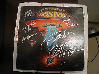 Boston - Debut LP - Signed by Six - Original -WOW!