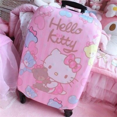 Hello Kitty Bear Suitcase Cover Dust Proof Trolley Bag Luggage Protector KK767