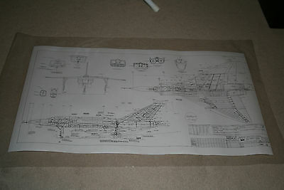 Avro Arrow Blueprint LAMINATED copy Multiple angle view CF 105 MK-1  NEW