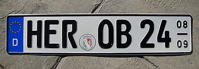 Germany License Plate / German Euro Front Plate  # HER OB 24