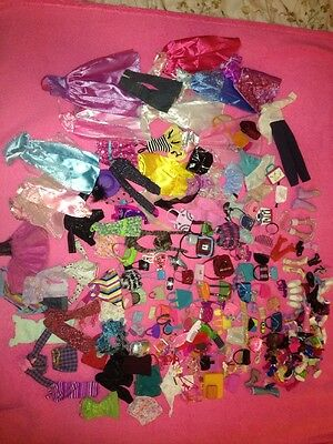 Lot Barbie Doll Vintage Clothing Shoes Purses Jewelry Accessories Toys Dolls Big