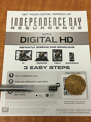 Independence Day Resurgence HD Digital Code ONLY