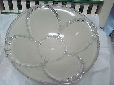 Art Deco Vintage Glass Shade  Ceiling Light Chandelier Fixture 1940's Frosted