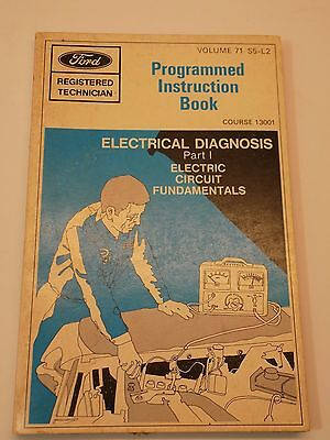 Vintage 1970 FORD REGISTERED TECHNICIAN Electrical Diagnosis Instruction Book