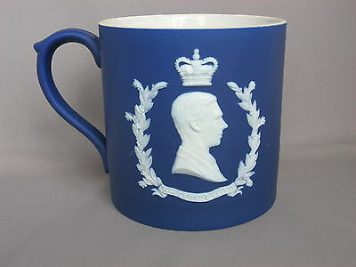 Wedgwood Cobalt Jasperware 1937 George VI Coronation Commemorative Mug