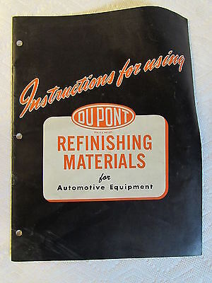 Vintage Dupont Refinishing Materials Publication * 1950