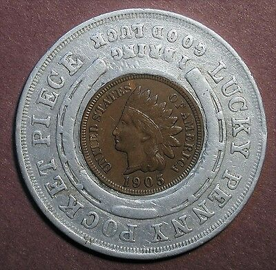 1905 Lewis & Clark Exposition  Rare Variety encased Indian Head Cent
