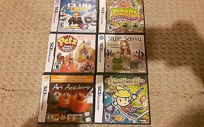 Nintendo ds game lot. 6 complete games. Great shape