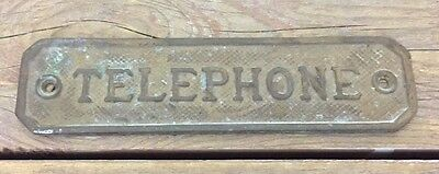 Antique Small Bronze Telephone Plaque Payphone Phone Booth Bell Quality