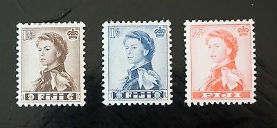 FIJI  Queen Elizabeth II  Set of 3 stamps  MINT, previously hinged