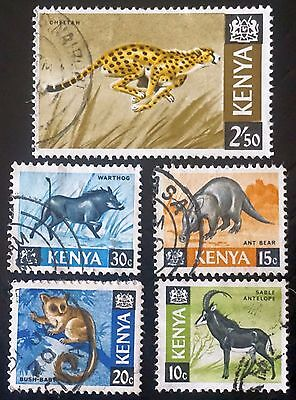 KENYA Lot of 5 different ANIMAL stamps definitives   Used   Lot #2