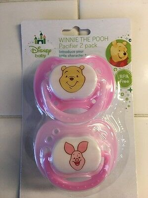 Disney Baby Winnie The Pooh Baby Pacifier 2 Pack - Pink & Light Pink
