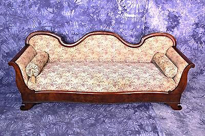 19th Century Antique American Victorian Sofa Settee Chaise Loveseat Couch Chair