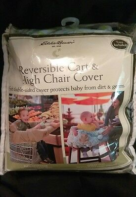 NEW EDDIE BAUER Shopping Cart & High Chair Cover Blue with Toys.
