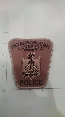 OBSOLETE Peterborough-Lakefield Police - Subdued grey swat patch-Ontario Canada
