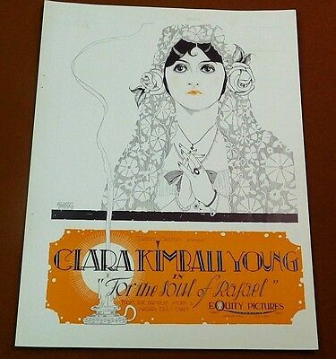 FOR THE SOUL OF RAFAEL '20 Silent Film Movie VARGAS TRADE AD Clara Kimball Young