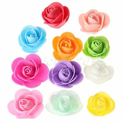 50pcs/100pcs Multicolor Foam Rose Flower DIY Floral Festivals Wedding Home Decor
