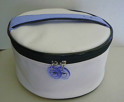 THIERRY MUGLER Top Handle White Makeup Cosmetics Bag, Large Size, Brand NEW!!
