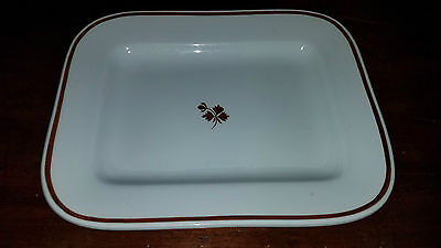E Burgess Tea Leaf Ironstone Platter 10 1/2""