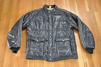 MINT Vintage 70s 80s Swingster Coors Light Puffy Jacket XL USA Made - Black Coat