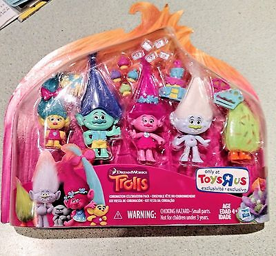 *USA* TROLLS Collection Pack DREAMWORKS MOVIE Toys R Us Exclusive