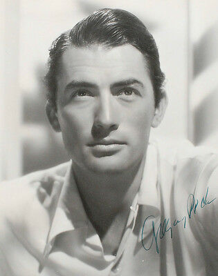 Signed Gregory Peck Black and White Photograph