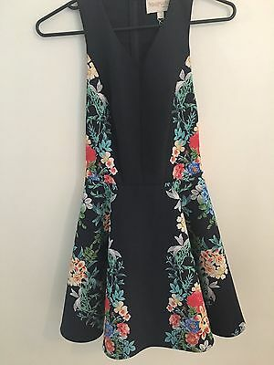 Keepsake the label Navy with floral design Dress - size M (AU 10)