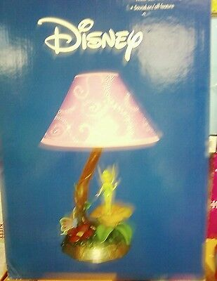 Disney Tinker Bell Lamp Musical Animated Tune Fairy Purple Shade 2004 New
