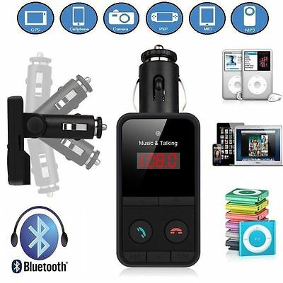 LCD Bluetooth Car Kit Wireless FM Transmitter USB Charger Audio MP3 Player UK