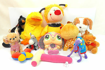Lot De 12 Peluches Assorties Tailles Diverses
