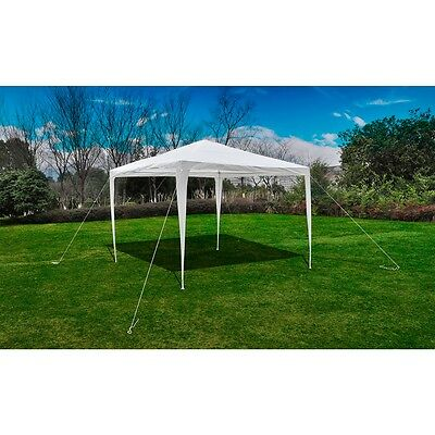 New White Party Tent 3x3m PE Gazebo Waterproof Canopy Shelter Garden Camping