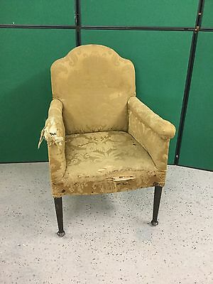 Antique Georgian Armchair For Re-Covering