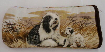 Old English Sheepdog & Puppy- Glasses Case