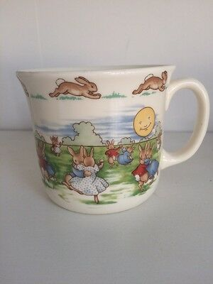 """ROYAL DOULTON Bunnykins 60th Anniversary Cup """"Dancing In The Moonlight"""""""