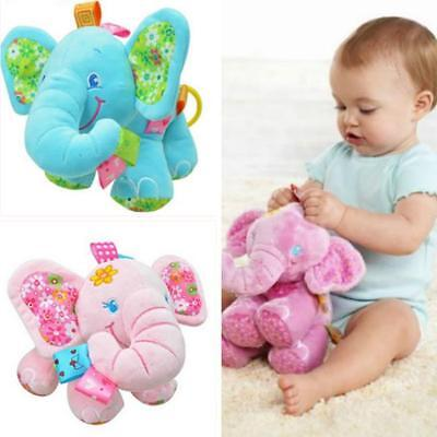 Elephant Plush Cot Crib Hanging Musical Soft Baby Toy Gifts B