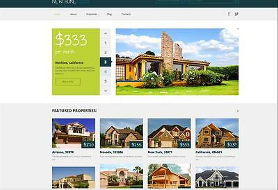 Ready ResponsiveProperty / Real Estate Agency Website + FREE DOMAIN & HOSTING