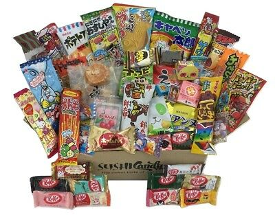 Japanese Candy 50 pc JUNE 10 Japanese KITKAT + POPIN COOKIN + 40 sweets snacks