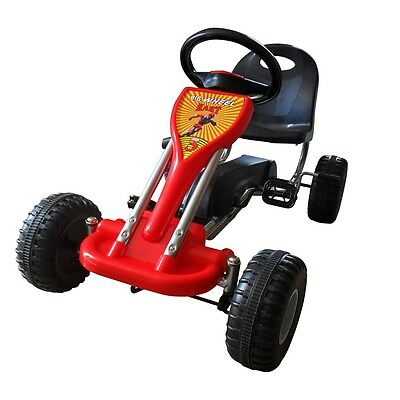 #S Red Pedal Go-Kart Ride-On Car Kids