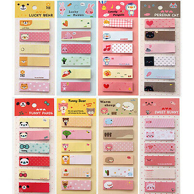 Cute Cartoon Sticker Office Post Bookmark Marker Memo Index Tab Sticky Notes New