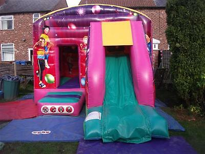 Childrens 18 x 12 Disco Bounce & Slide Castle