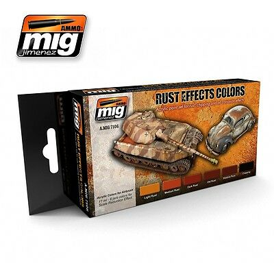 AMMO of Mig Jimenez Rust Effects Colour Set for Rust and Chipping Effects