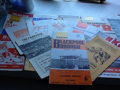 50 rugby league programmes 60s 70s 80s