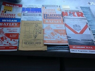 50 Rugby League programmes 60s/70s