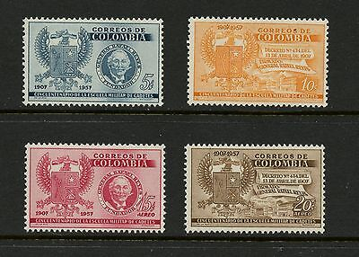 Colombia 1957 #673-4, C299-300  Colombian Military Academy  4v. MNH  J317