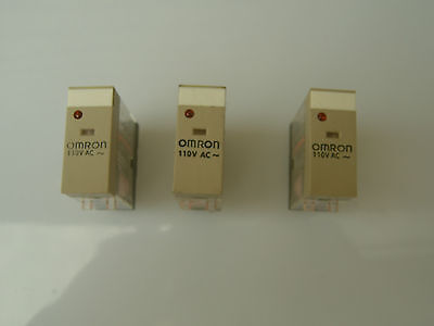 OMRON RELAY Plug-in, 10A, 110Vac, G2R-1-SN 110AC General Purpose Relay, (Qty 3)