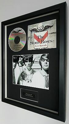 The Stone Roses-Love Spreads-Framed Original CD- Plaque-Certificate-Ian Brown