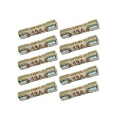 10 Pack 13 Amp Rated Replacement Household Fuse Set 240V Ac - Use For 13A Lights