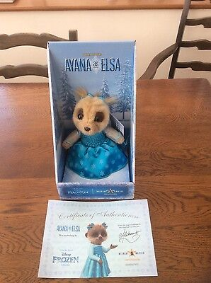 New with Certificate, Limited Edition, Ayana as 'Disney's Elsa' Meerkat Toy.