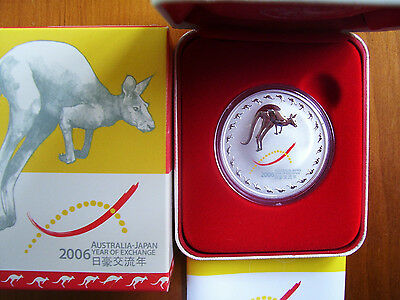 """2006 $1 Silver Coin: """"Australia-Japan Year of Exchange."""""""